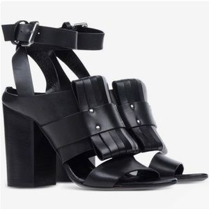McQ Alexander McQueen Alibi Pleated leather sandal